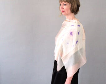 Bohemian 1920s Rose Gold Tie-dyed Silk Scarf