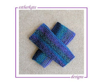 KNITTING PATTERN pdf, quick and easy chunky garter legwarmers, leg warmers, for child or adult, instant DOWNLOAD