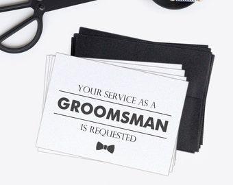 Groomsman card set (4) - Groomsman proposal - Groomsmen card - C002-5S