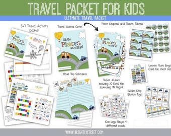 Traveling with Kids Travel Journal, Activity Book, Snack Station and More