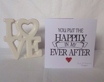 Wedding Anniversary / Valentines Day Card - Husband | Wife | Fiancé |Girlfriend | Boyfriend