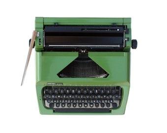 Green portable typewriter SIGMA SM 1000