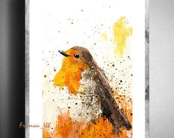 The Robin fine art abstract Giclee print
