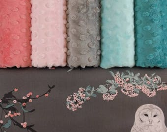 Weighted Blankets - Owls - Soft Cotton - Breathable Weighted Blanket - Adults, Teens, and Children - Floral - Birds - Feminine - Minky