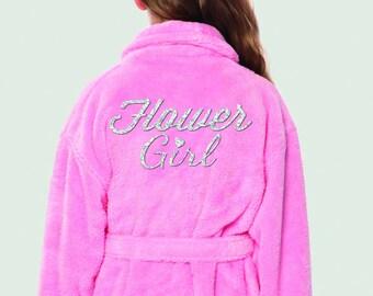 Flower Girl Plush Terrycloth Robe