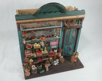 General store dollhouse miniature set grocery
