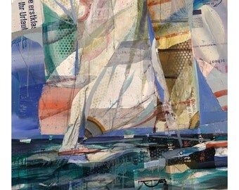 America's Cup. Free Shipping Limited  edition glicée print (Etching Rag 310® by Canson)- Museum Quality. By Juanma Pérez