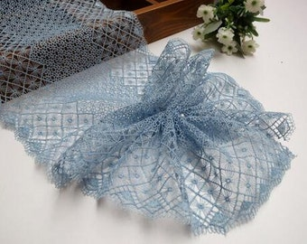 "Headwear accessories Light blue lace trim embroidery lace trim 6.69""wide x 2.2 yards long(yuan)"