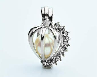 Cage Pendant for 6mm to 9mm Loose Pearl Cage4 (CP9)