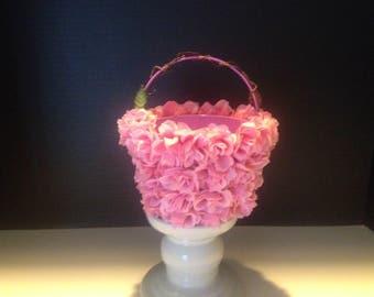 Little Pink Flower Girl Basket
