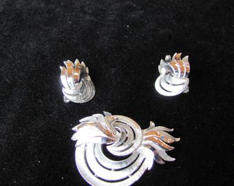 Kramer Brooch and Earrings, Vintage