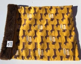 Snuggle Sack, Wiener Dog Bed, Burrow Bag, Cuddle Bag, Dachshund Bed, Dachshund Sleeping Bag, Doxie Bed Warmer, Hi I'm Frank Fabric, Dog Gift