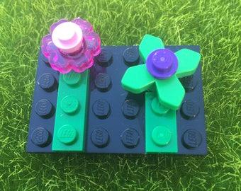Lego flower brooch