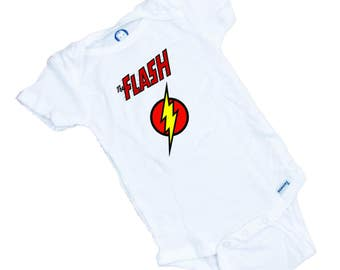 The Flash  Super Hero Funny Baby Onesie or Tee Shirt