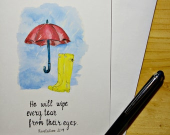 He will wipe your tears...Notecards