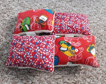 Wrist Pin Cushion Reversible Various Patterns and Colours