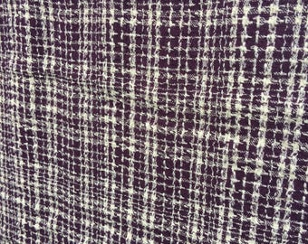 Dark purple woven vintage cotton (maybe rayon too) soft