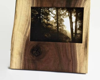 Organic Wood Picture Frame 4x6 - by Turning Green-  in Walnut, great eco friendly gift