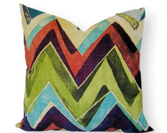 "Robert Allen Pillow Cover 20"" sq. pillow in Color Field Leaf design Same fabric both sides"