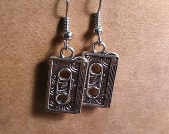 Retro cassette tape earrings