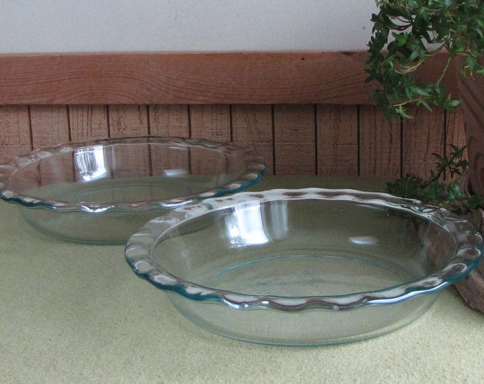 Pyrex Pie Pans Pair (2) of Pyrex Originals Dishes Vintage Ovenware and Cookware