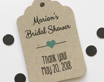Kraft Bridal Shower Tags, Shower Favor Tags, Bridal Shower Favor Tags (ST-006-KR)