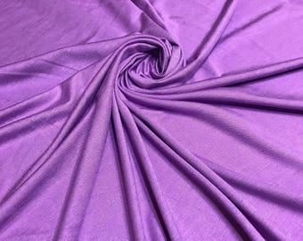 LILAC Rayon Spandex Jersey Knit Fabric, 4 Way Stretch, Four Way, BTY By The Yard