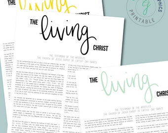 "PRINTABLE The Living Christ 11""x14"", Instant Download, LDS Art"