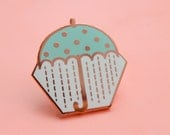 Rose Gold Enamel Pin Pastel Umbrella Pin Brooch Pin Flair Badge Weather Rain Copper Geometric Pattern Polka Dot Cute Gift Unique Gift