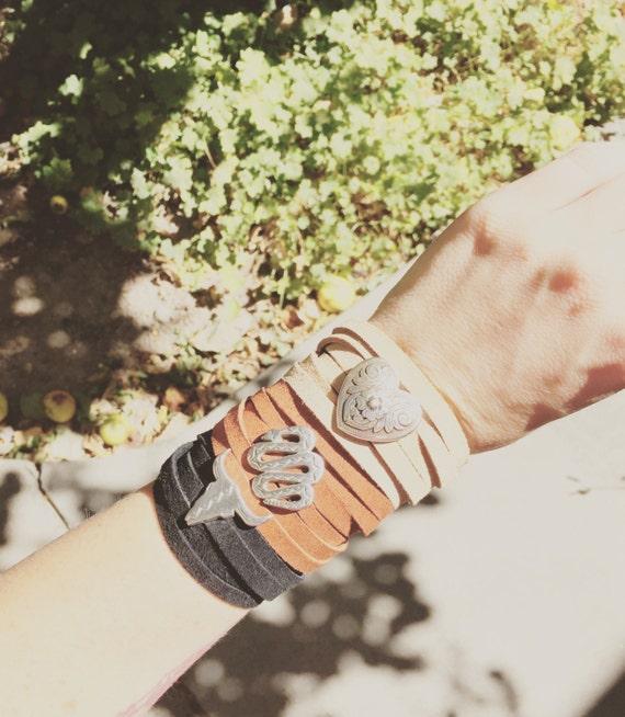 Out West Leather Wrap Bracelet