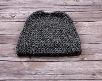 Crochet Ponytail Beanie