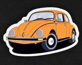 Retro Kühlschrank Orange : Ähnliche artikel wie vw käfer oldtimer retro stil orange farbe