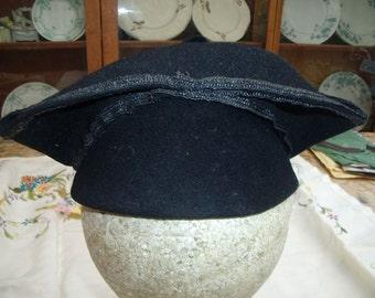 Completly Bonkers Original Black Felt 1920's / 1930's Hat - Fantastic Condition Never Worn