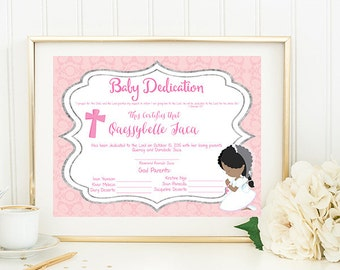 Baby dedication etsy baby dedication certificate yadclub Image collections