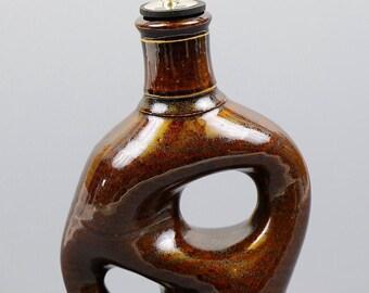 Olive Oil Bottle w/ spout in Teadust Glaze