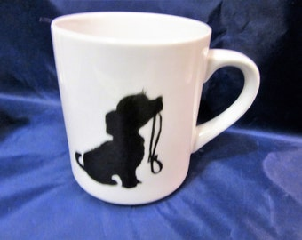 Dog Mug Coffee Tea Pets Porcelain Ceramic Hand Painted Puppy BLM