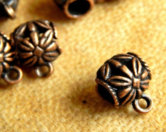 10 red copper bells, bell pendant