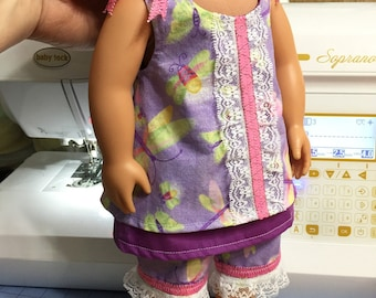 """A """"Dragonfly Spring """" Sundress for American Girl or other 18"""" Doll"""