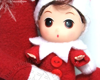 Baby elf doll little shelf sitter elf Christmas elf doll