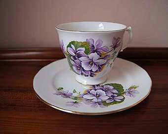 Vintage English bone china tea set.