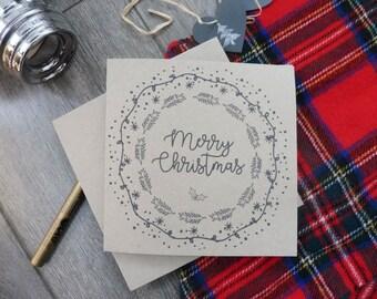 Merry Christmas Wreath Card