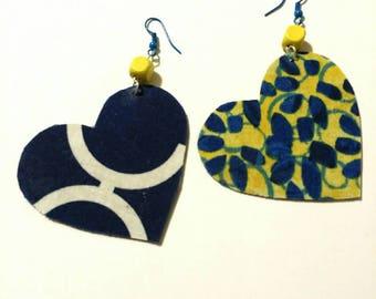 Fabric Heart Earrings 4