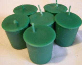 Green Votive Candles-6 pack-Christmas-Yule Candles-Votives-Holiday Candles-Gift Ideas-