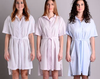 Minimalist shirt dress | 3 colors | 2 lenghts | 3 ways to wear