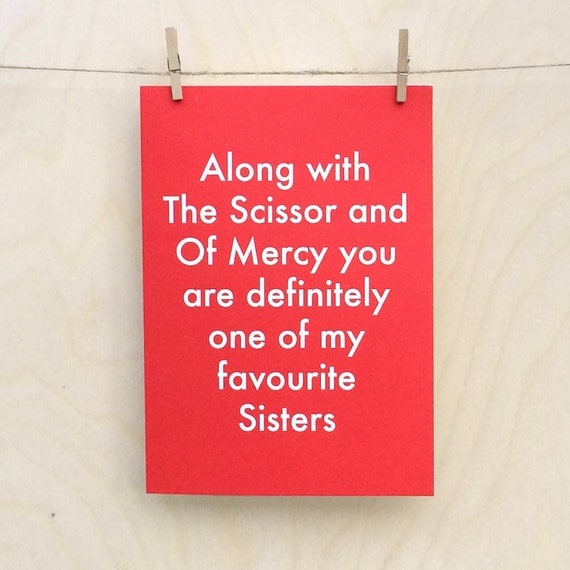 Funny Sister card, funny Sister birthday card, funny Sister day card ???