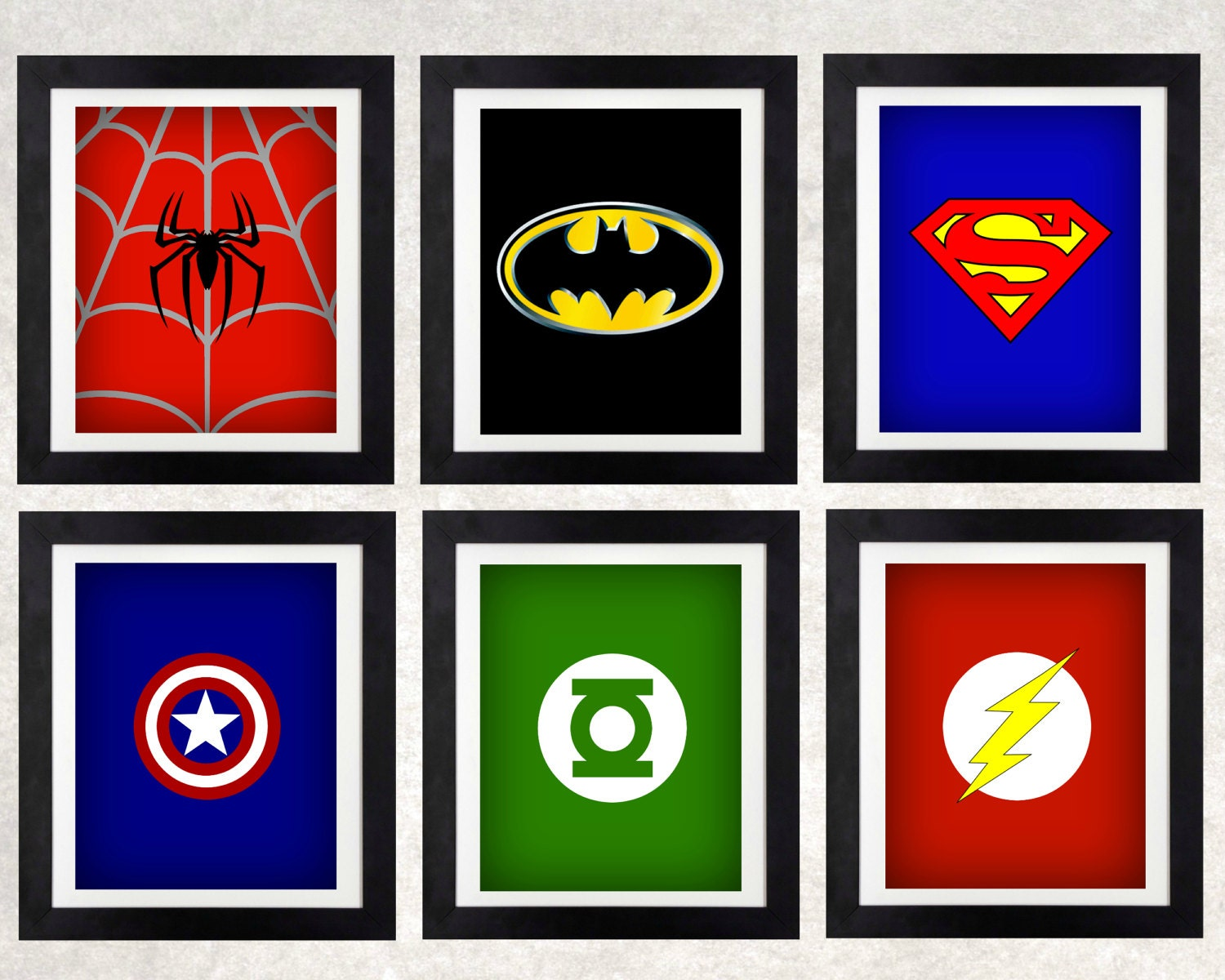 superhero art printables superhero decor boys wall art. Black Bedroom Furniture Sets. Home Design Ideas