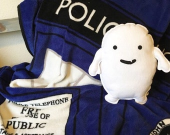 Adipose, Dr. Who inspired, Geeky felt stuffed plush toy