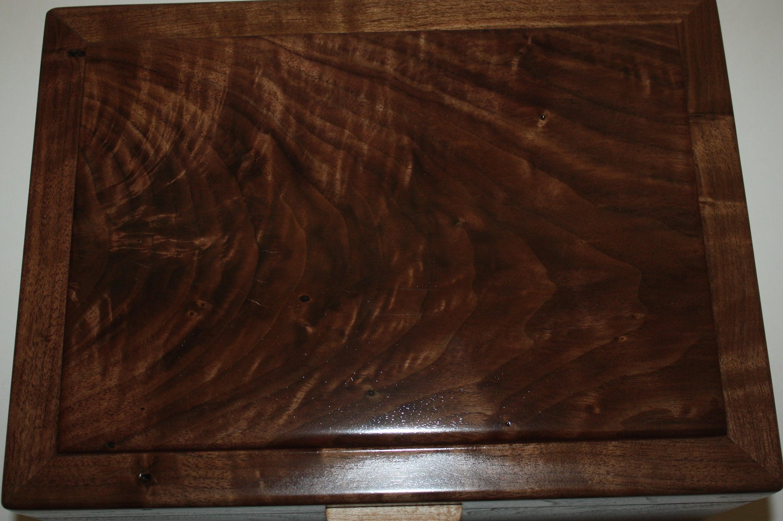 Walnut Burl Lid on Handmade Box