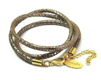 Wrap Bracelet - Leather Bracelet - Brown Bracelet  - Statement Bracelet - Stylish Jewelry - Feminine Jewelry - Casual Jewelry
