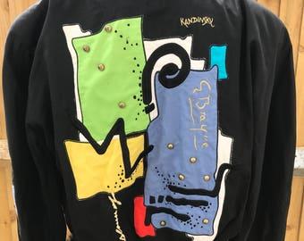Original 1980s Laurèl jacket abstract graffiti 80s blouson advant garde retro